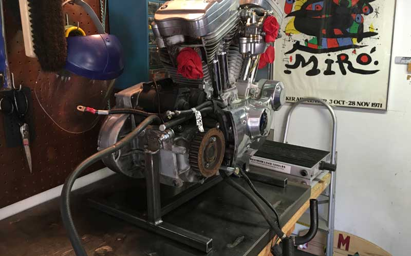 Fabricating An Engine Stand For A 1998 Sportster